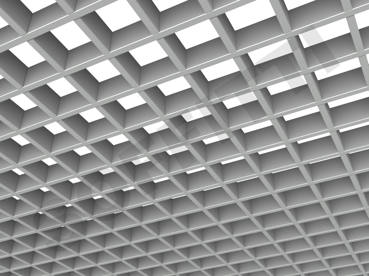 Потолок Грильято Стандарт 75х75 мм серый