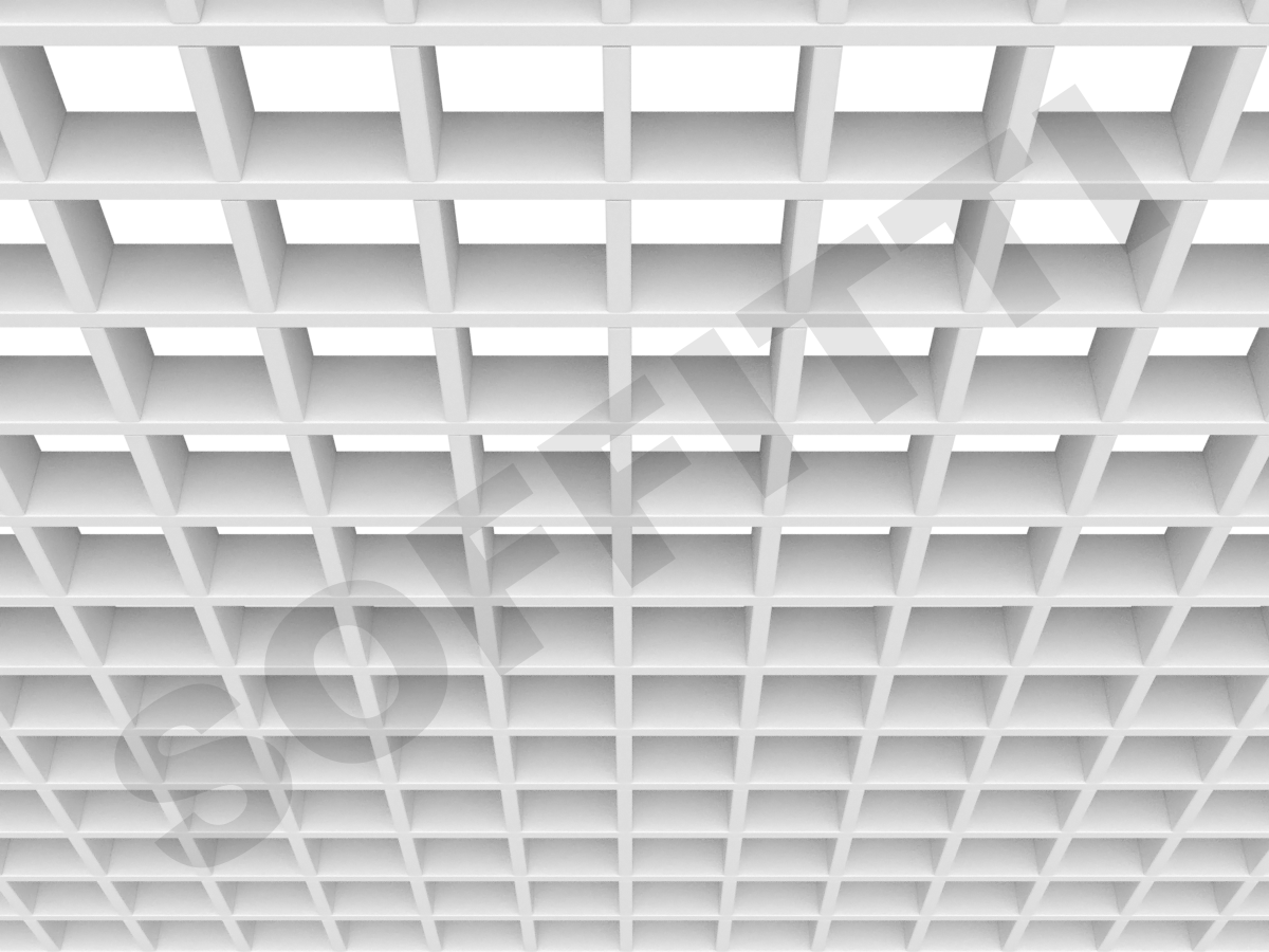 Потолок Грильято Стандарт 75х75 мм белый