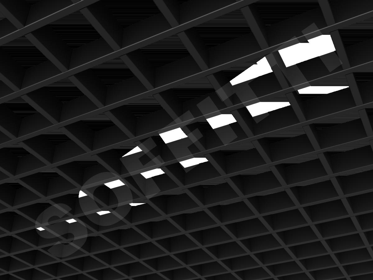 Потолок Грильято Стандарт 86х86 мм черный