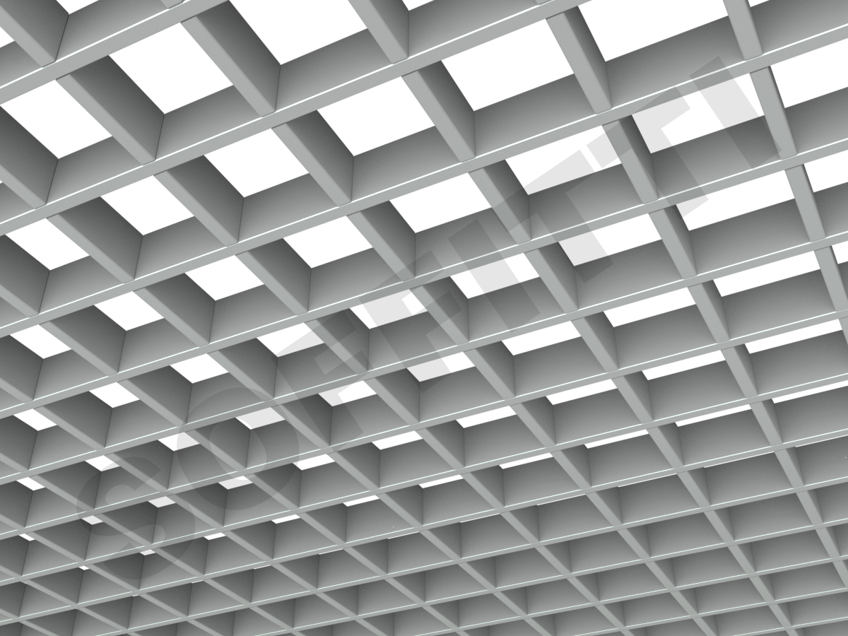 Потолок Грильято Стандарт 100х100 мм серый
