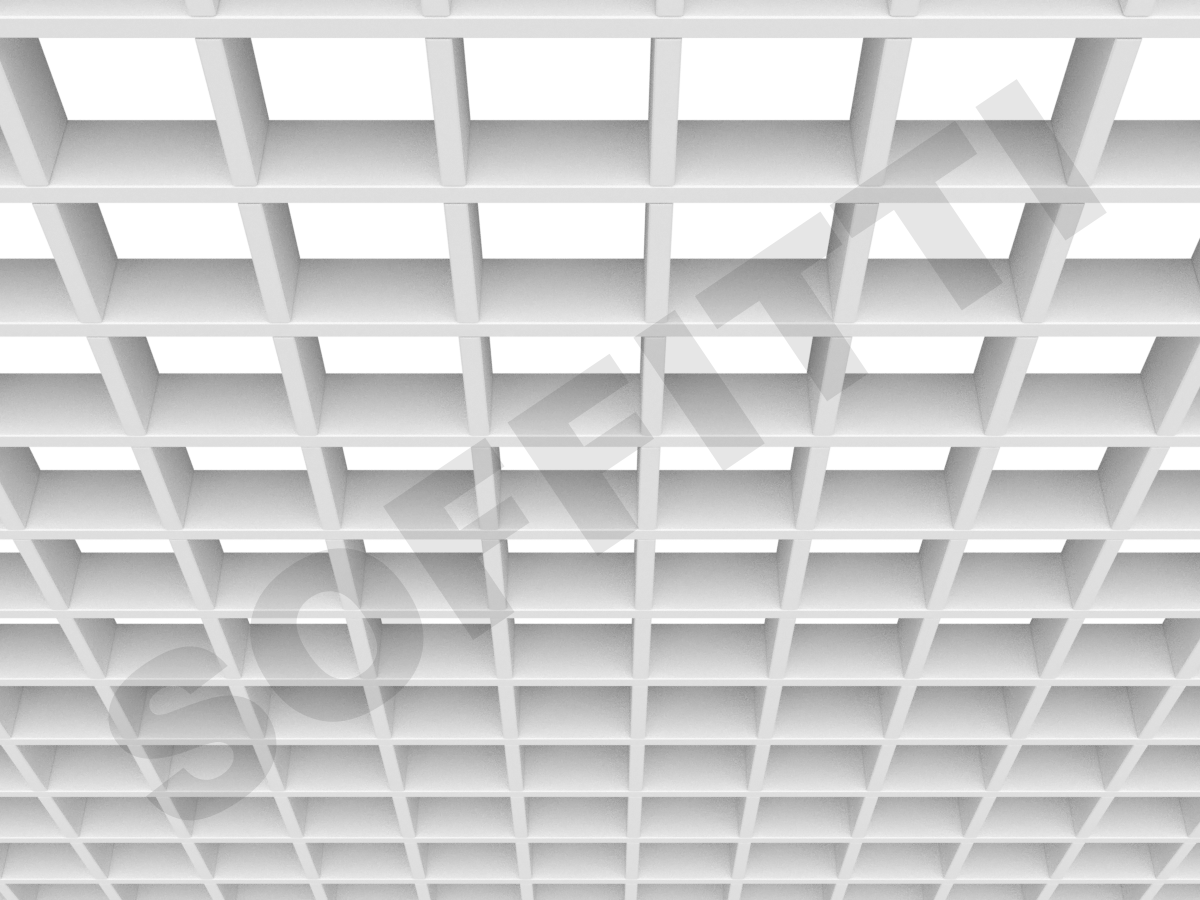 Потолок Грильято Стандарт 86х86 мм белый