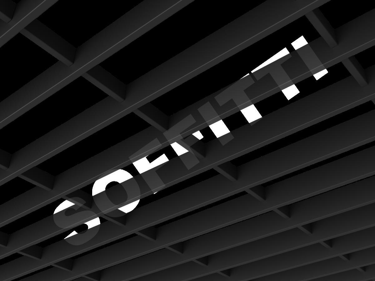 Потолок Грильято-жалюзи 300х100 мм черный