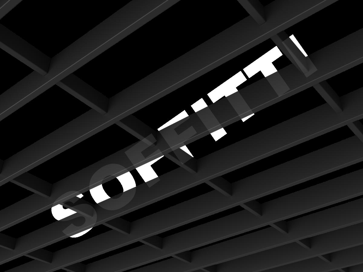 Потолок Грильято-жалюзи 300х120 мм черный