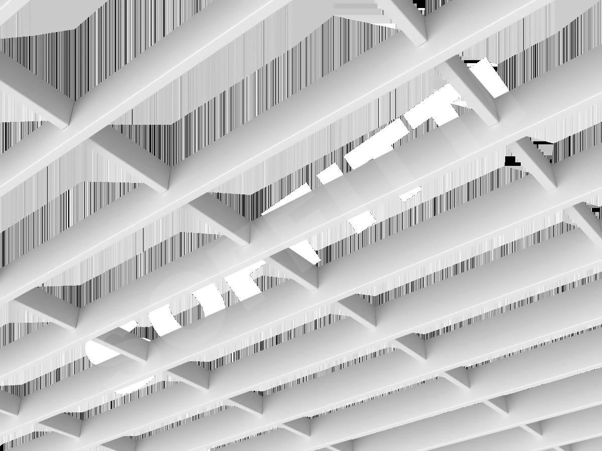 Потолок Грильято-жалюзи 300х120 мм белый