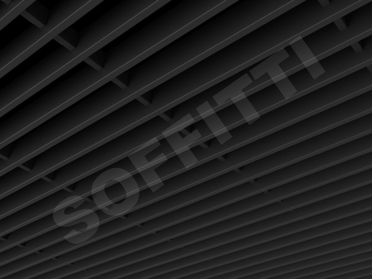 Потолок Грильято-жалюзи 300х50 мм черный