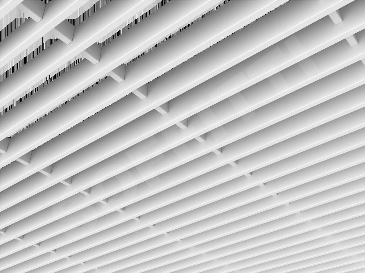 Потолок Грильято-жалюзи 300х50 мм белый