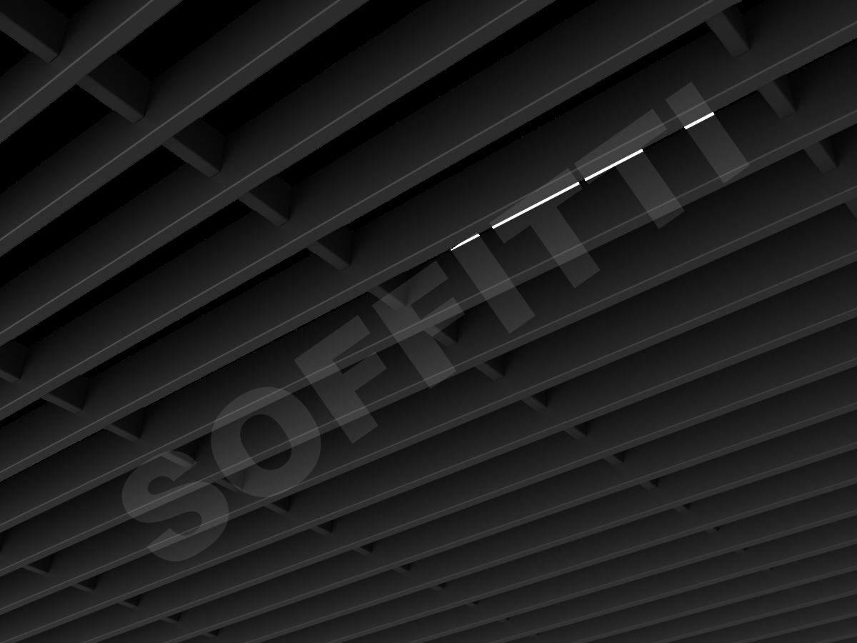 Потолок Грильято-жалюзи 300х60 мм черный
