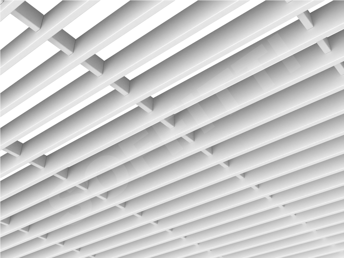 Потолок Грильято-жалюзи 300х60 мм белый