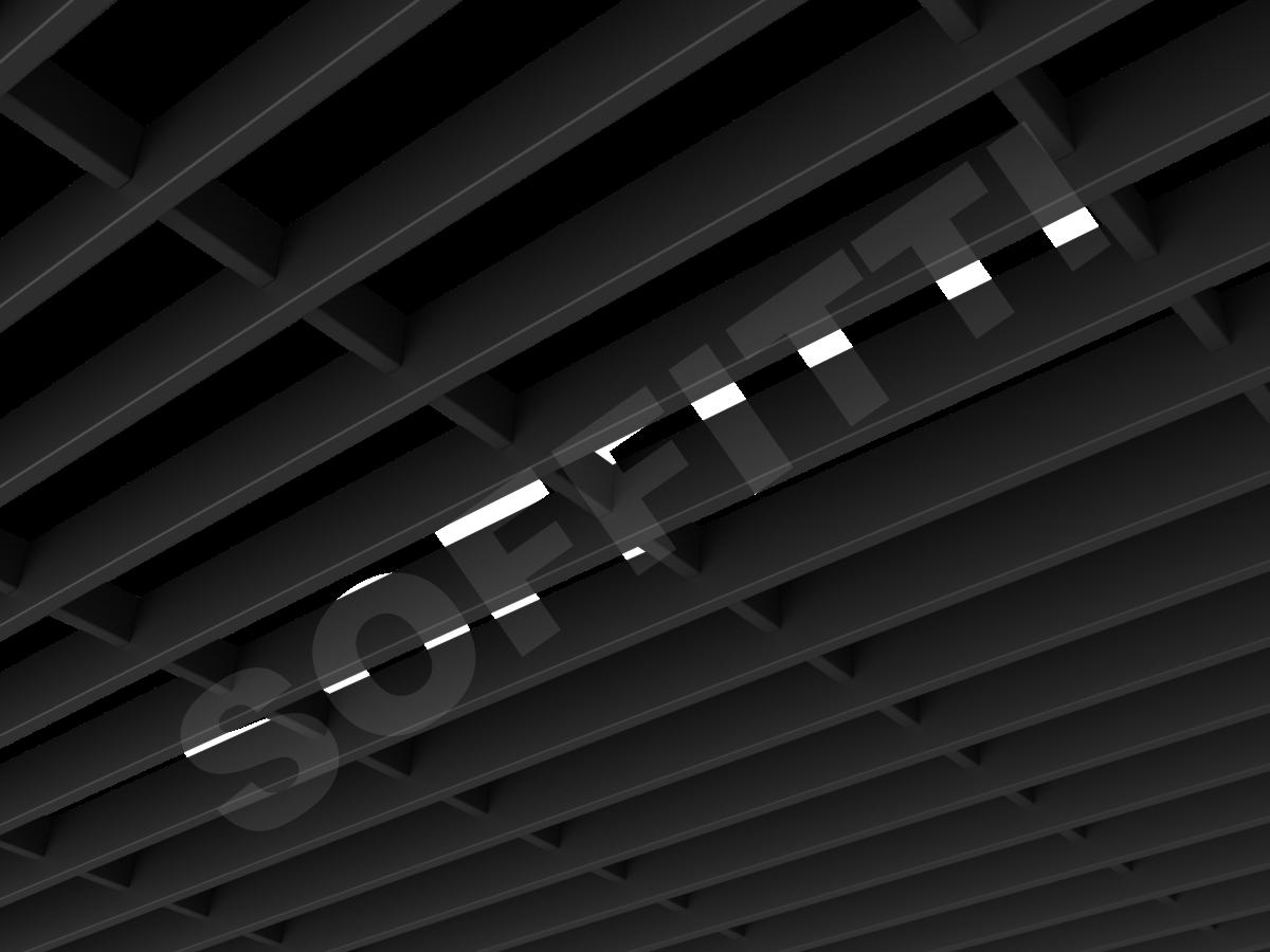Потолок Грильято-жалюзи 300х75 мм черный