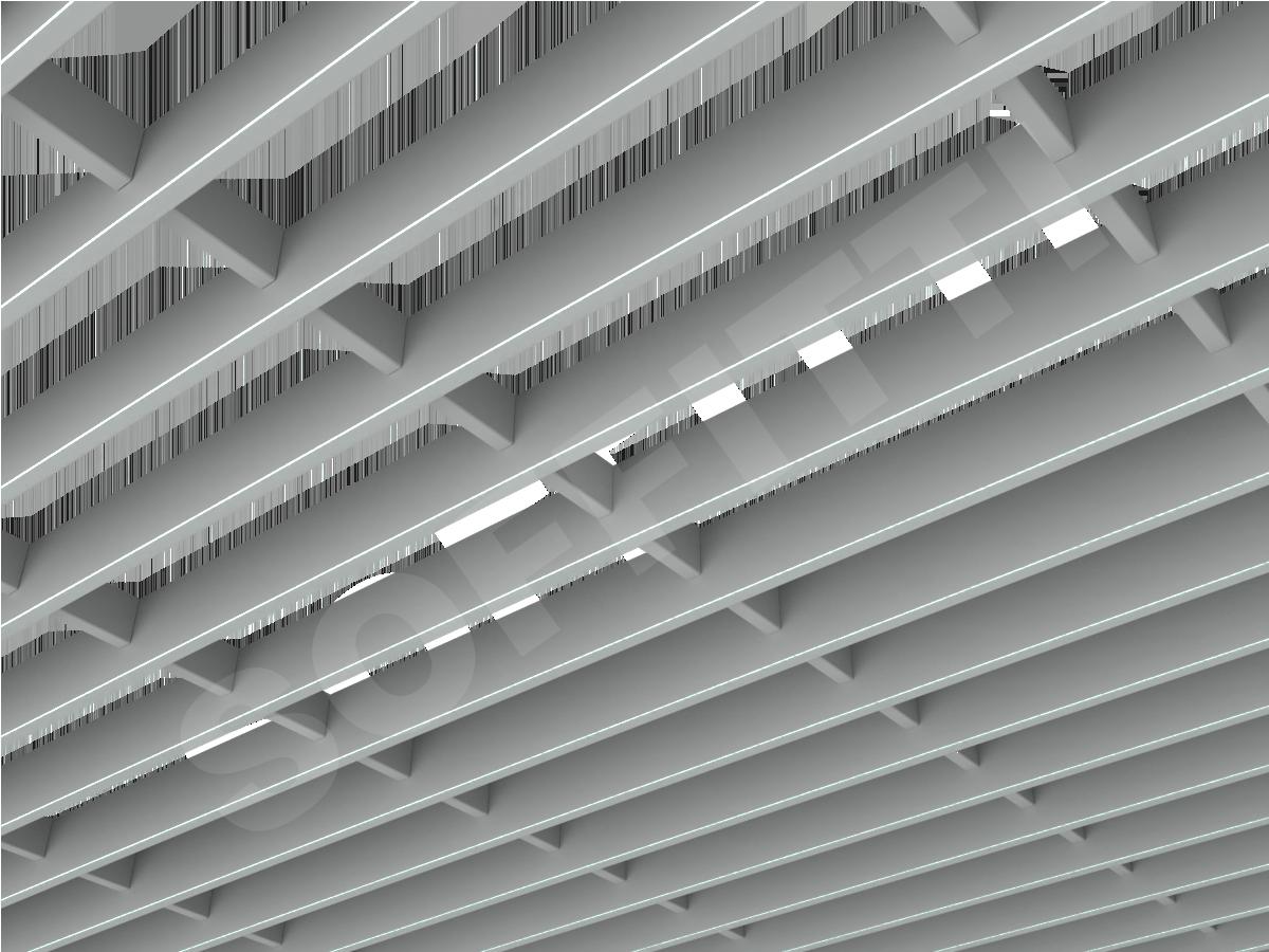 Потолок Грильято-жалюзи 300х75 мм серый
