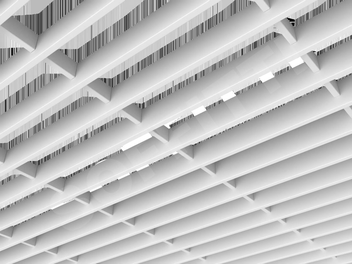 Потолок Грильято-жалюзи 300х75 мм белый