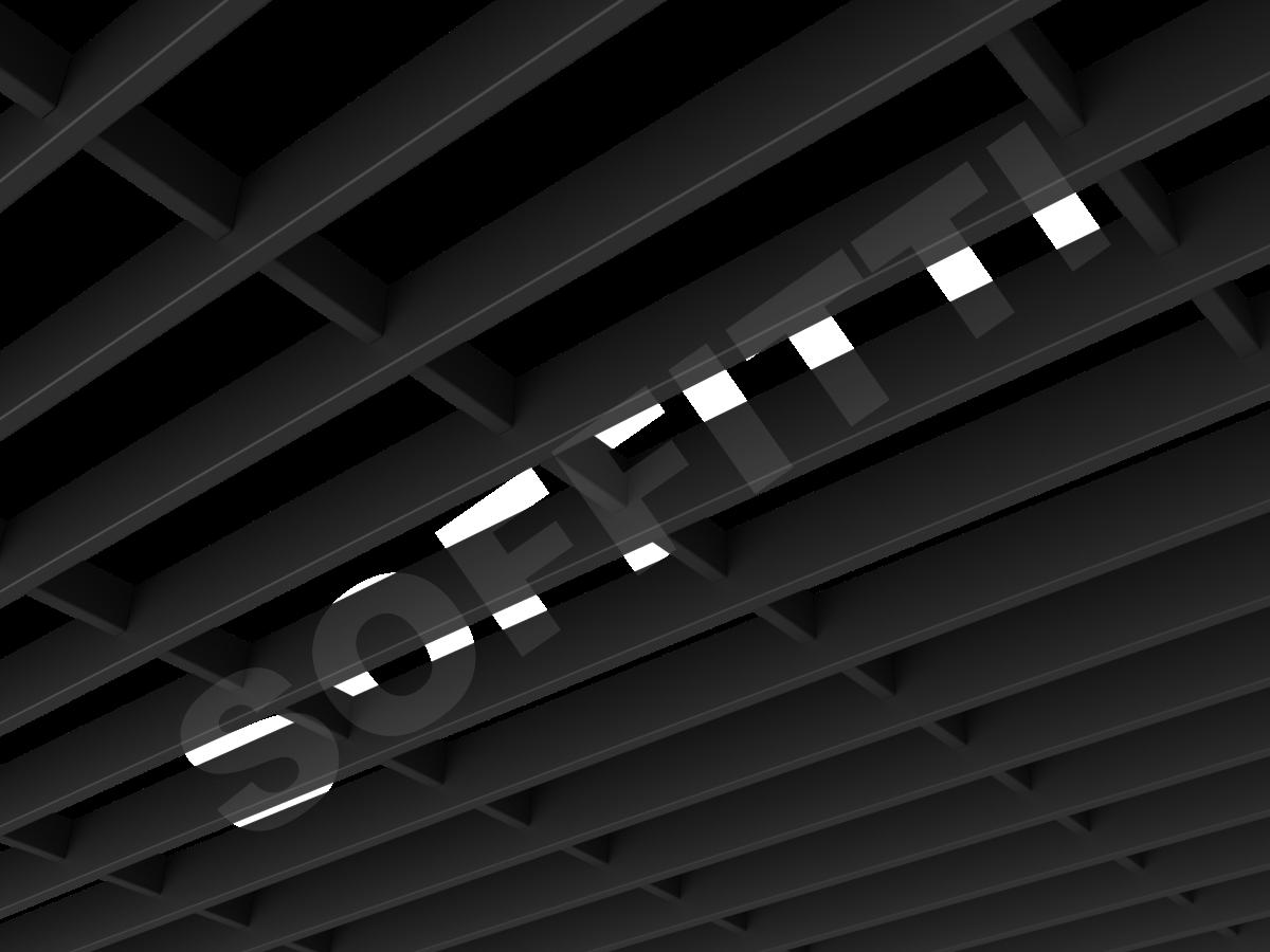 Потолок Грильято-жалюзи 300х86 мм черный