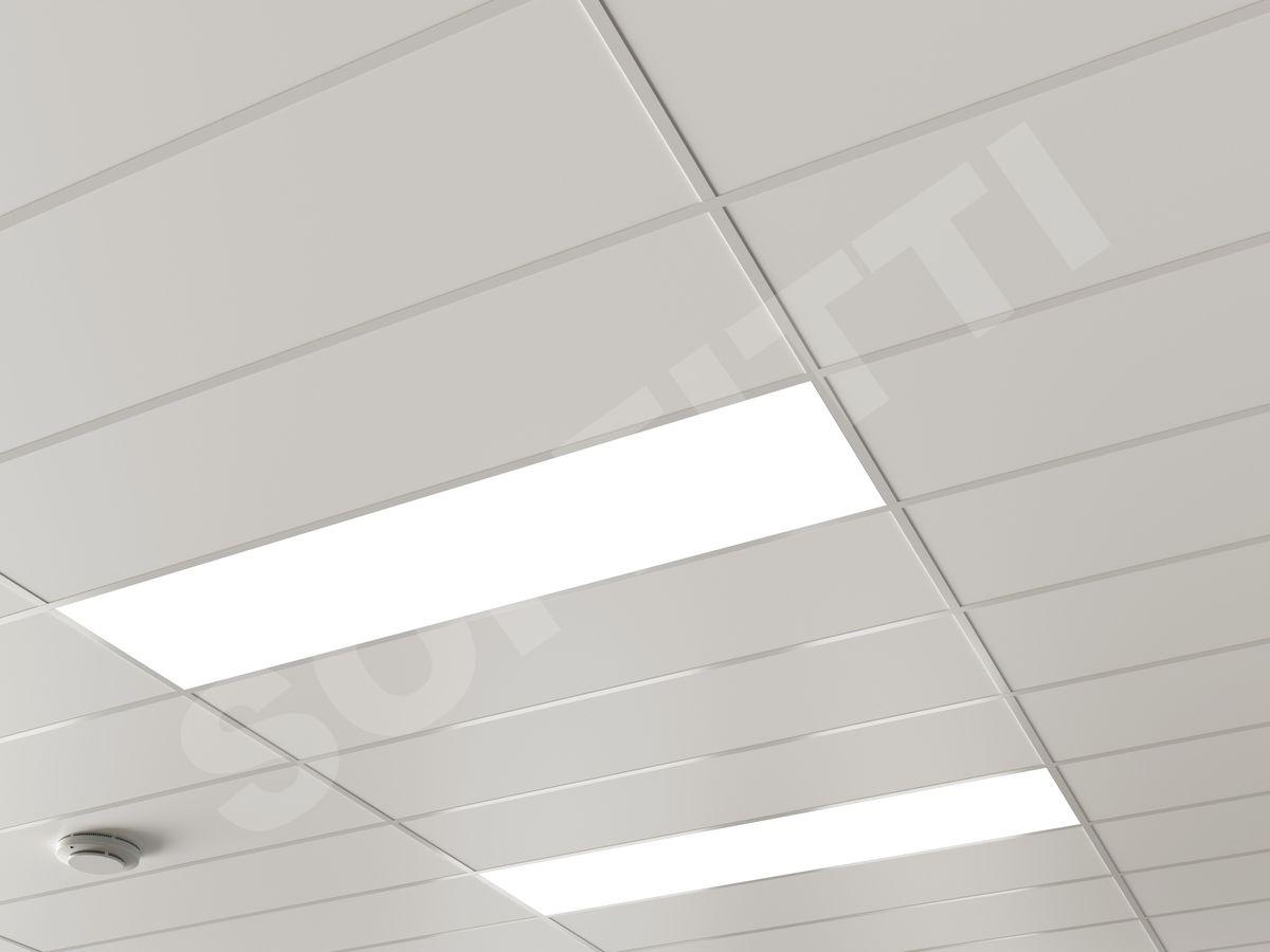 Кассетный потолок Board 1200x300мм белый