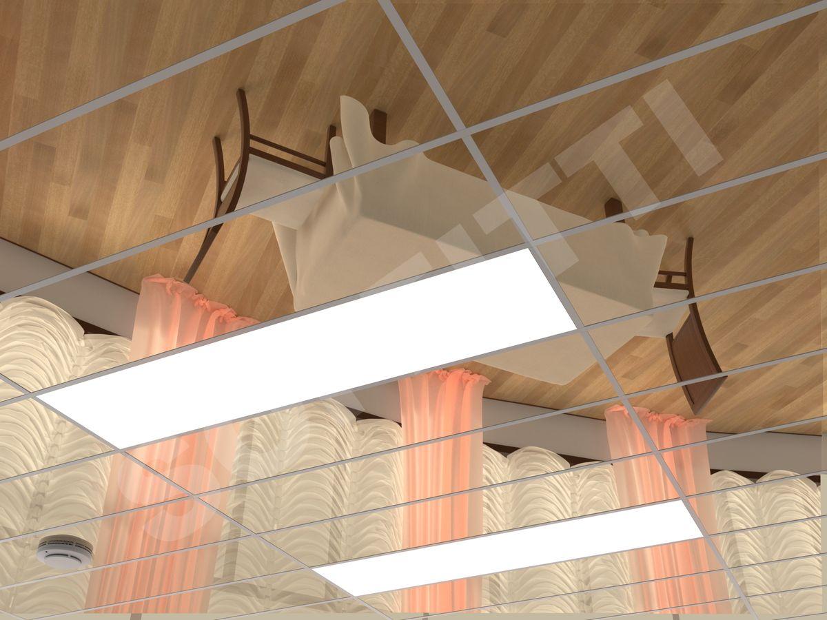 Кассетный потолок Board 1200x300мм золото