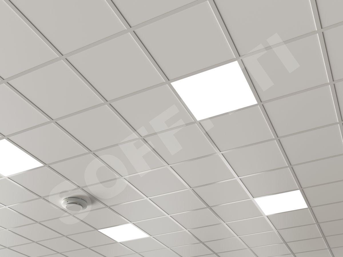 Кассетный потолок Board 300x300мм белый
