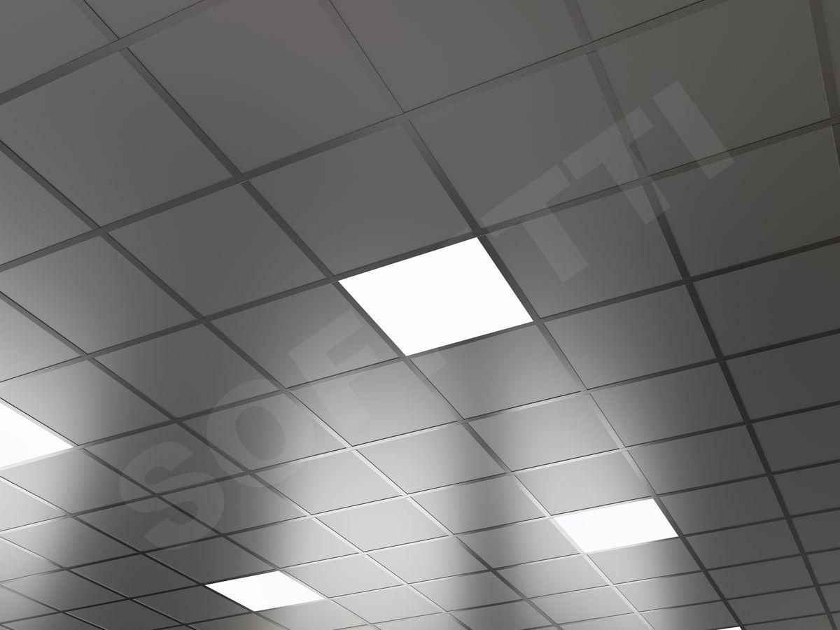Кассетный потолок Board 300x300мм металлик