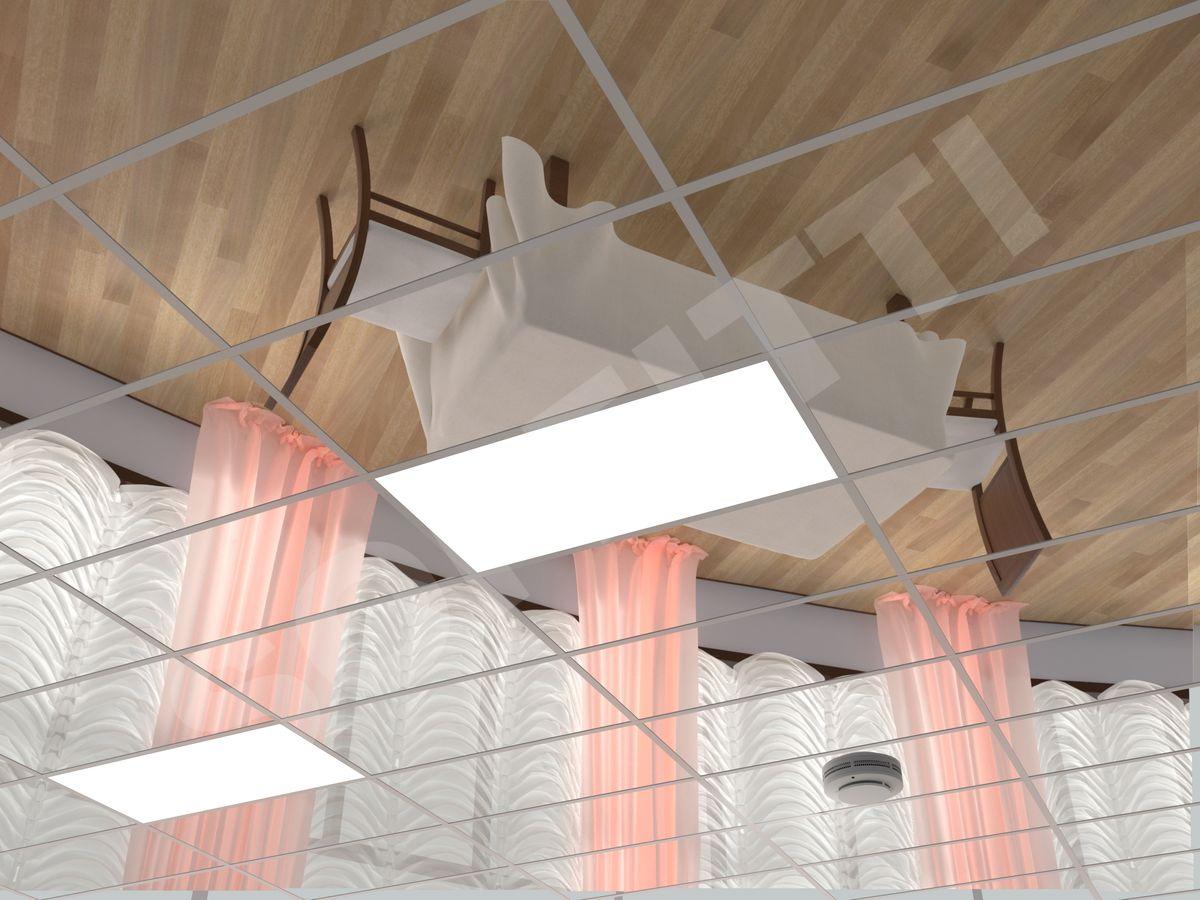 Кассетный потолок Board 600x300мм хром