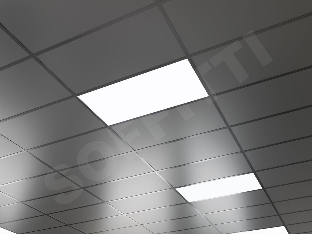 Кассетный потолок Board 600x300мм металлик