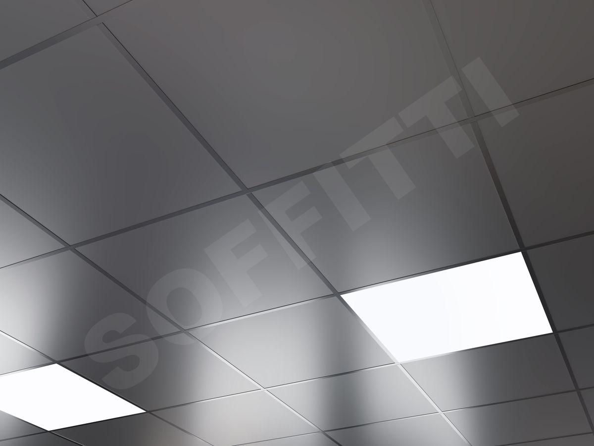 Кассетный потолок Board 600x600мм металлик