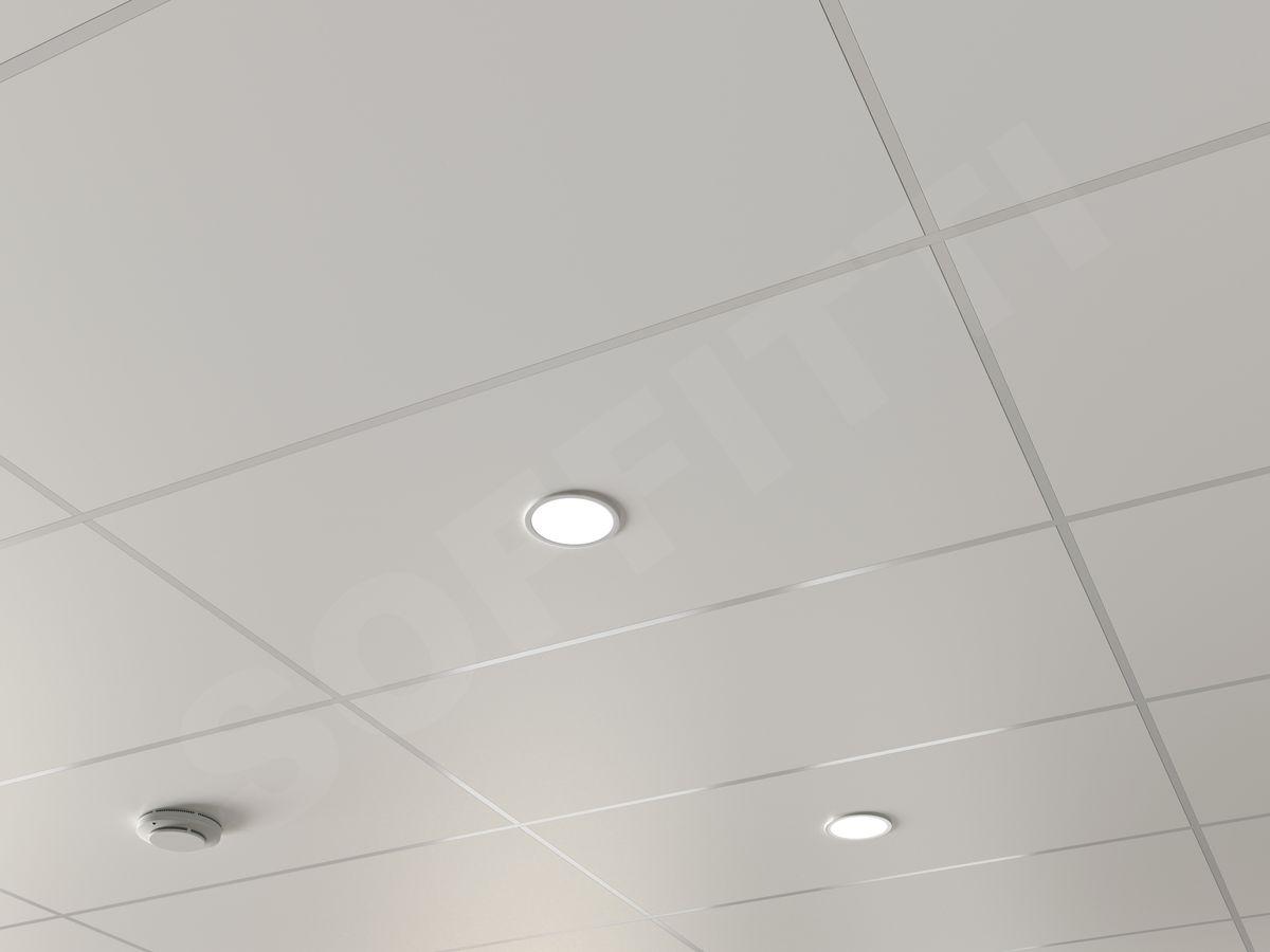 Кассетный потолок Line 1200x600мм белый