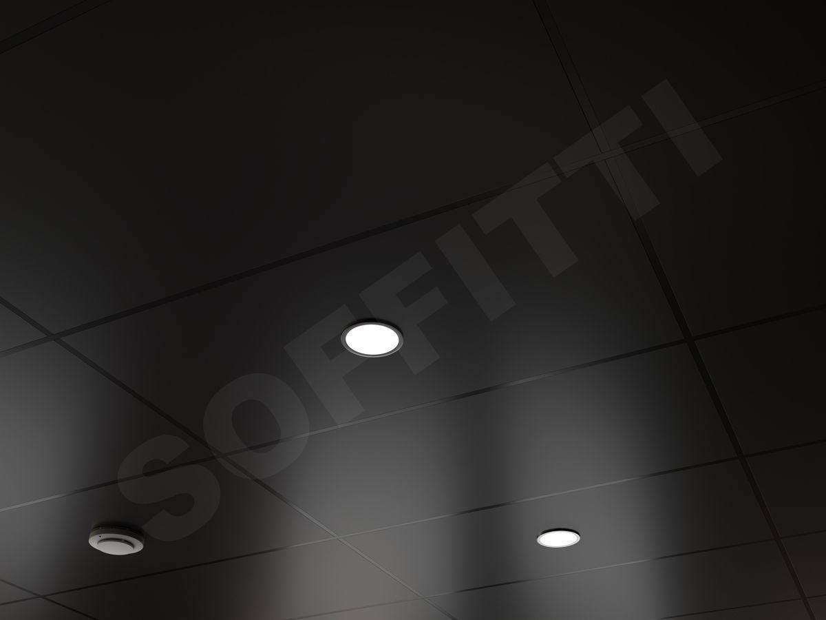 Кассетный потолок Line 1200x600мм черный