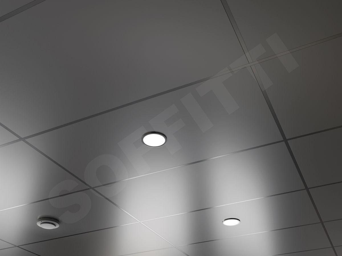 Кассета Line 1200х600мм серебристый металлик