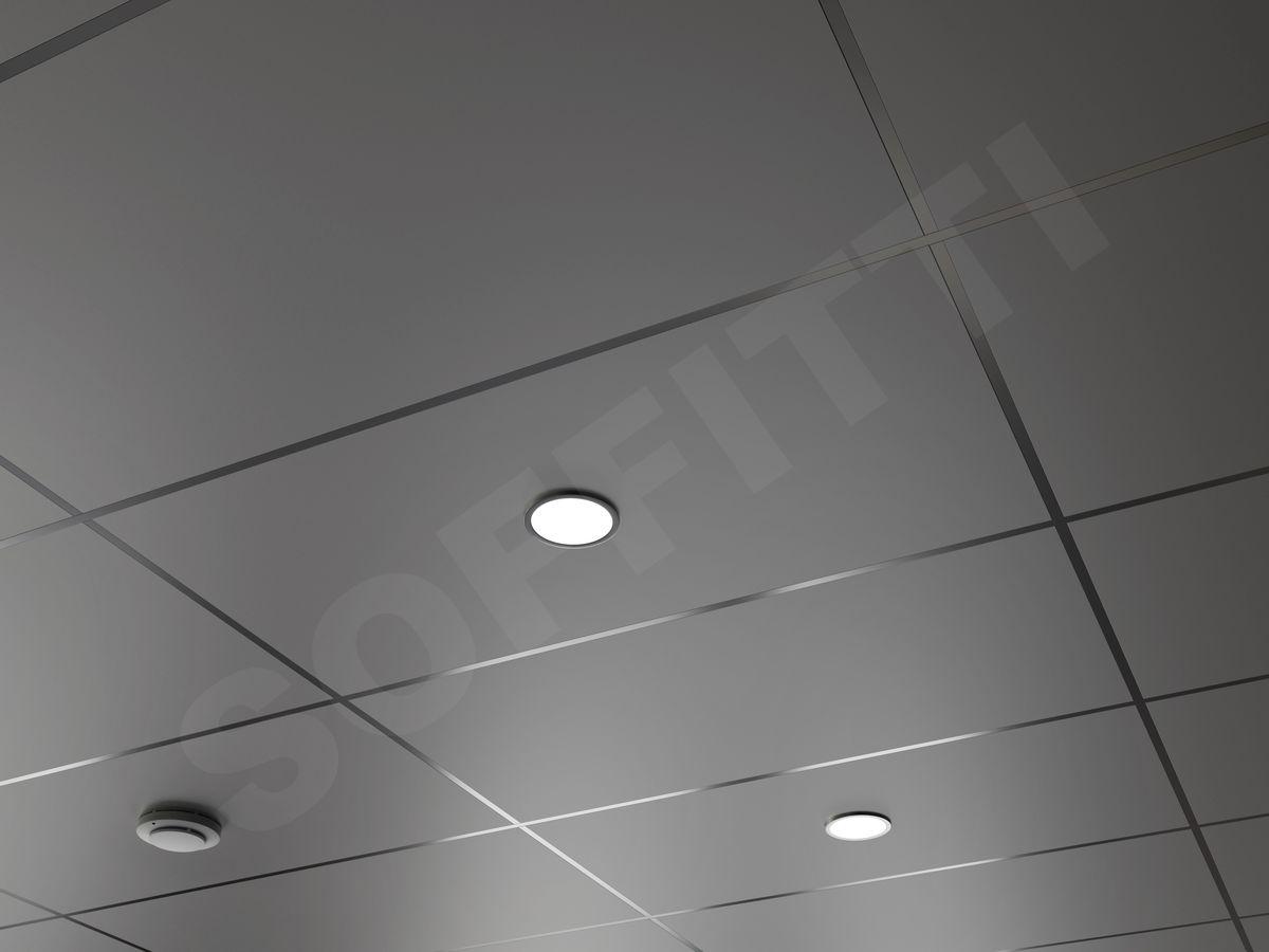 Кассета Line 1200х600мм серый металлик матовый
