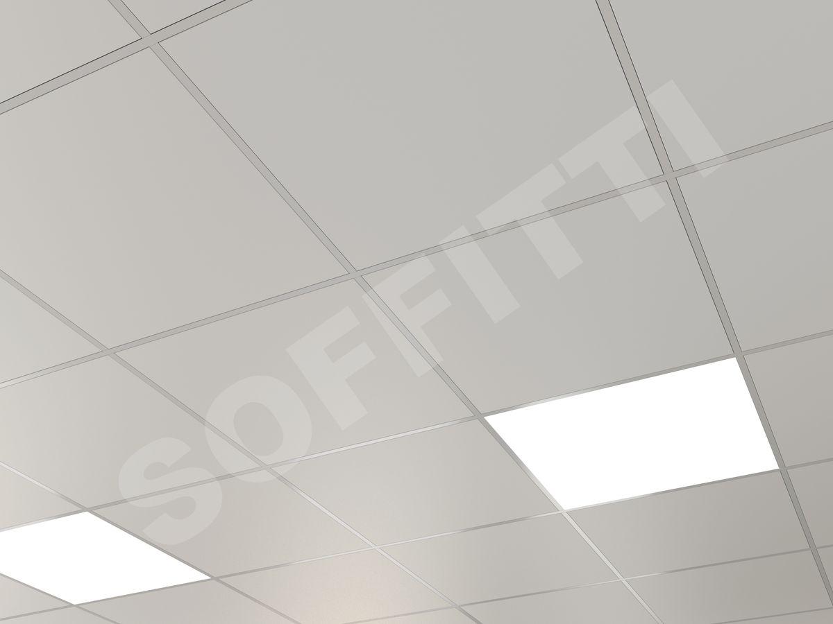 Кассетный потолок Line 600x600мм белый
