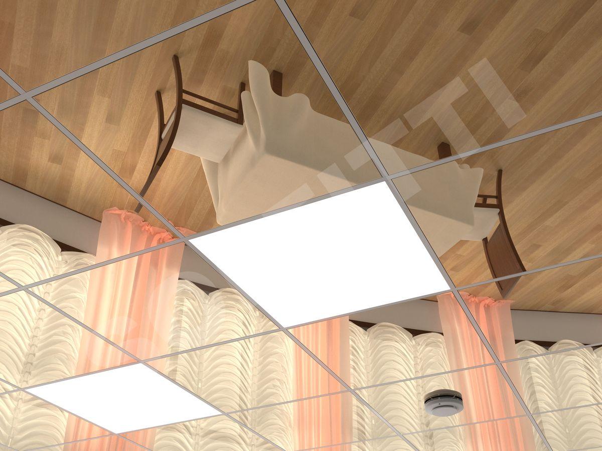 Кассетный потолок Line 600x600мм золото