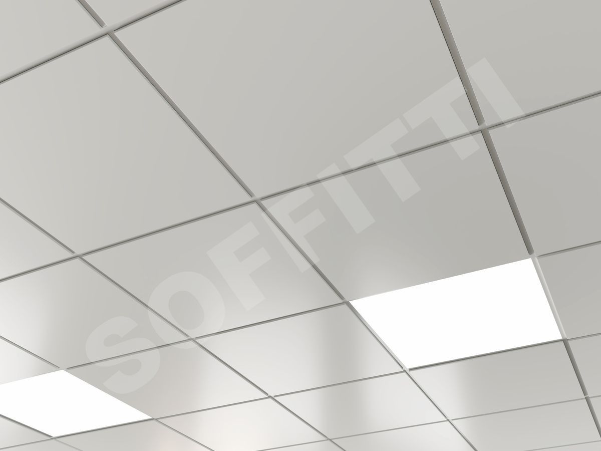 Кассетный потолок Microlook 600х600мм белый