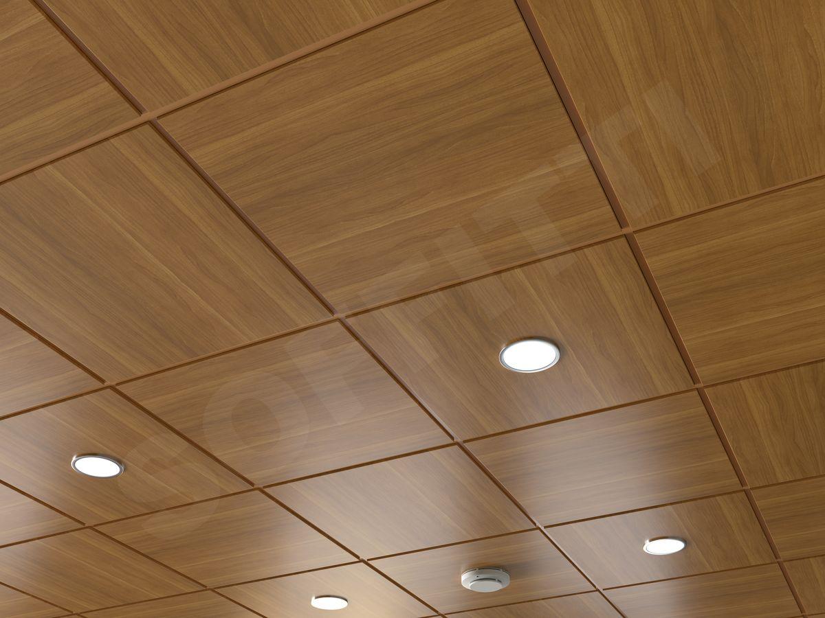 Кассетный потолок Microlook 600х600мм под дерево