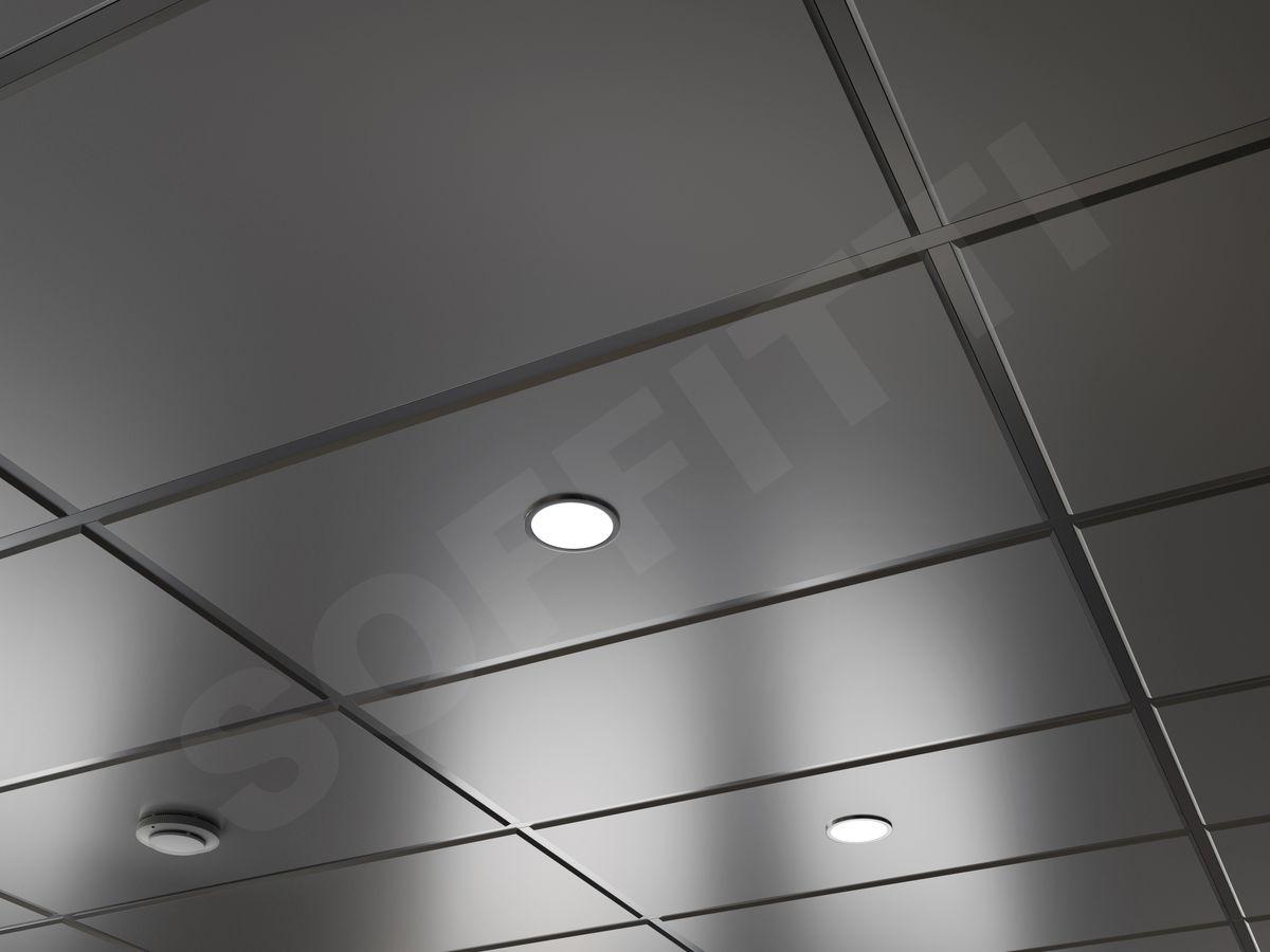 Кассета Tegular 1200х600мм серебристый металлик