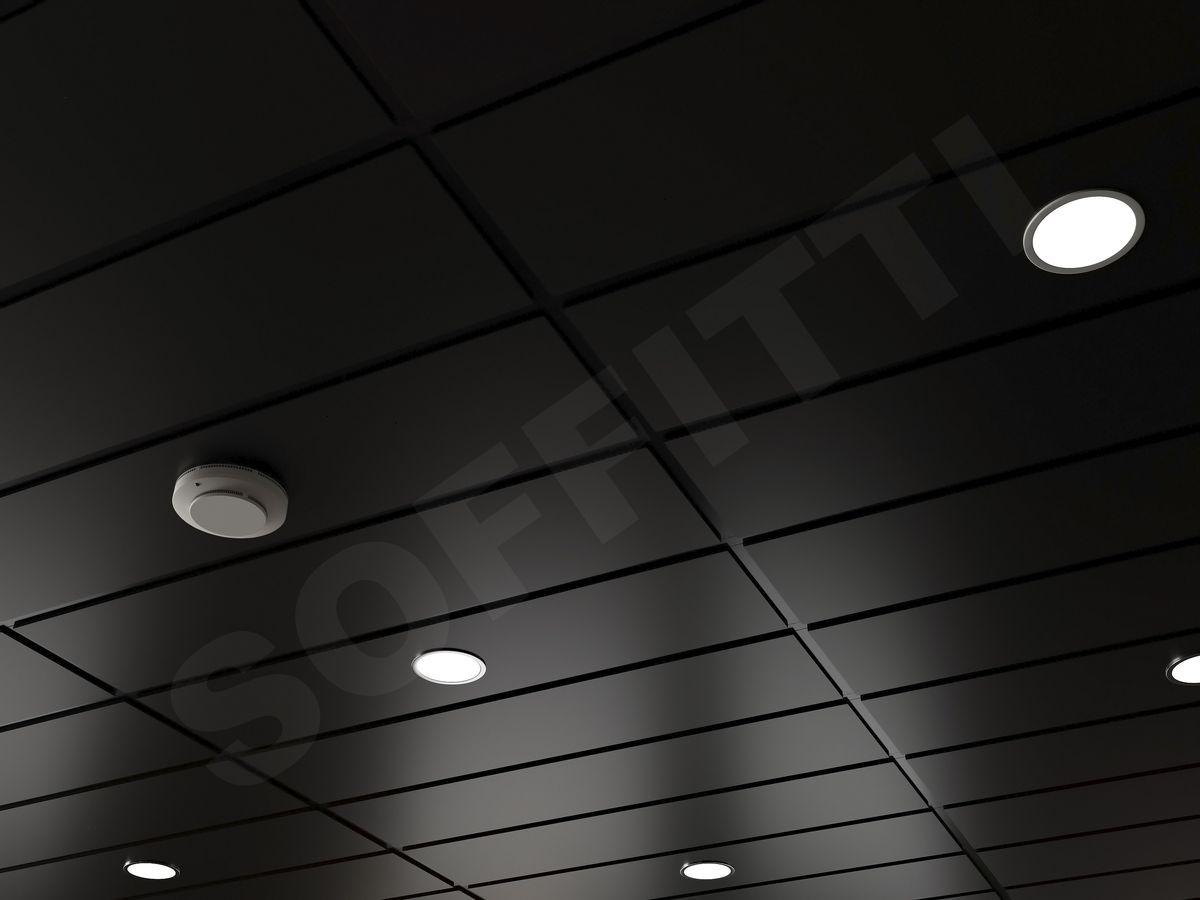 Кассетный потолок Tegular 1200x300мм черный