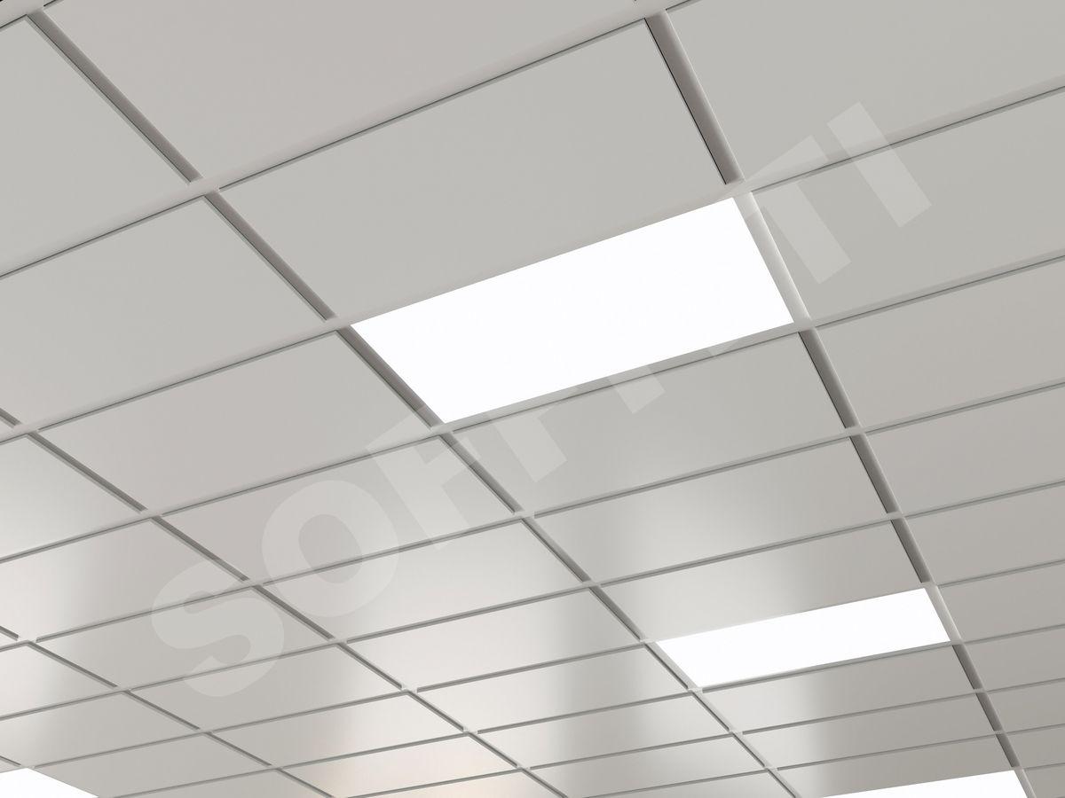 Кассетный потолок Tegular 600x300мм белый