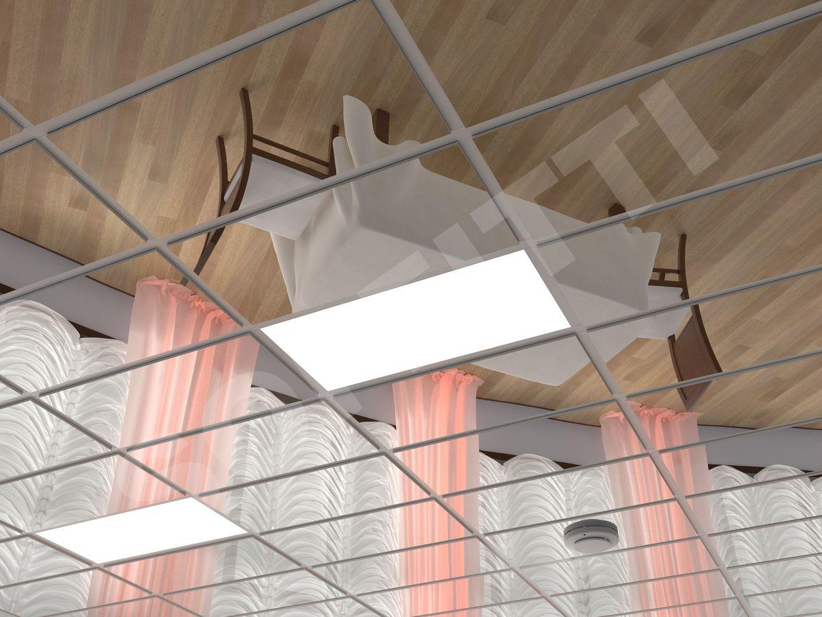 Кассетный потолок Tegular 600x300мм хром