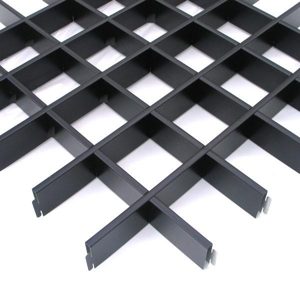Грильято стандартный черный 100х100x30 мм