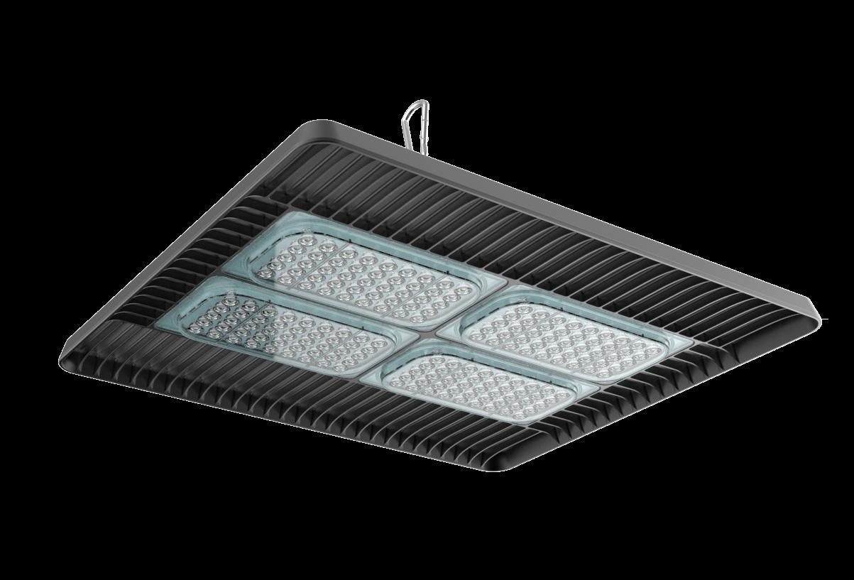 Светильник LED Aura 200Вт 5000К/6500К 36000лм 560x459x110мм