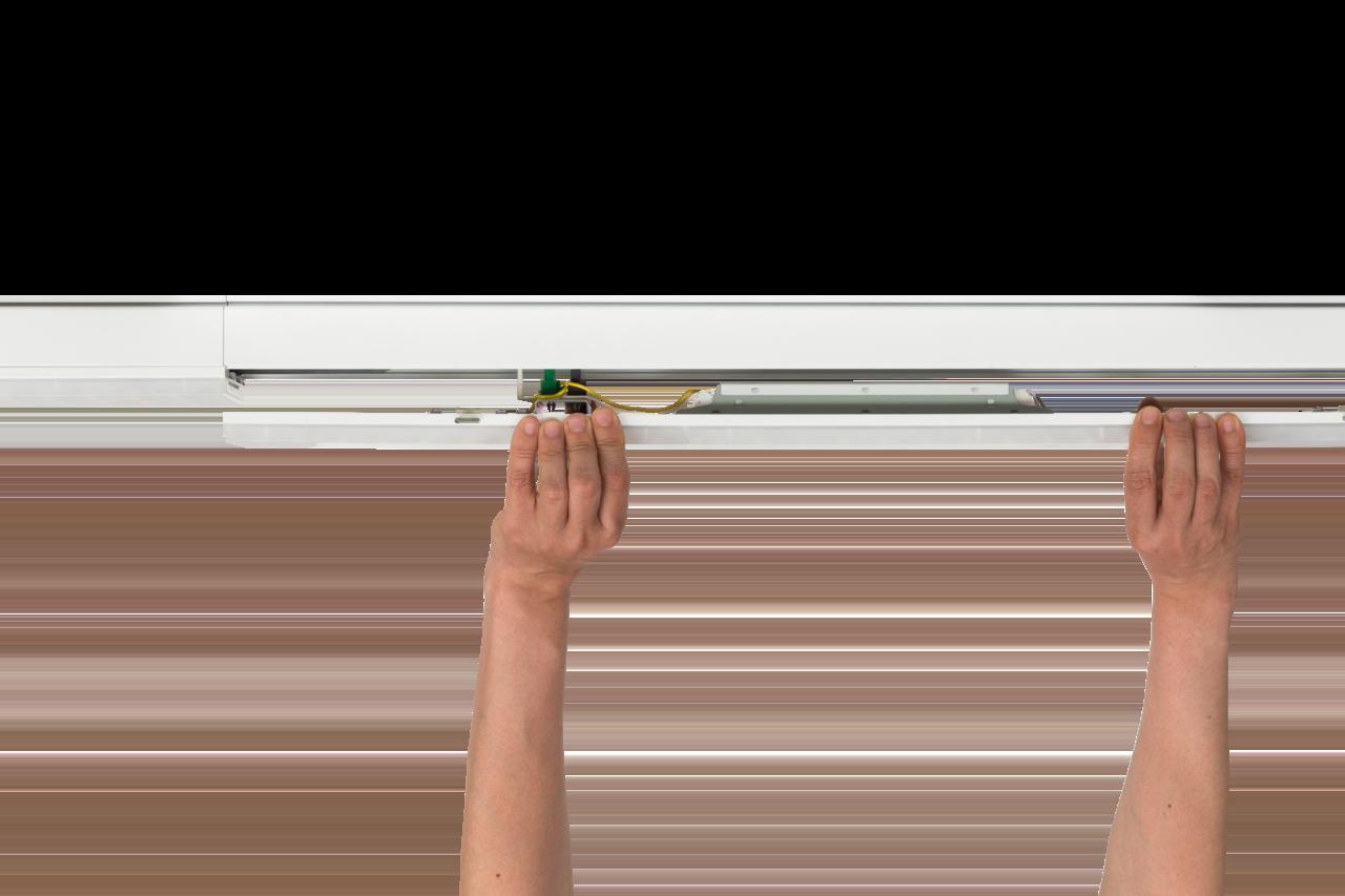Светильник CSVT VOLGA-EU/L 76Вт IP40 110° 1724x63x74мм промежуточный в линии